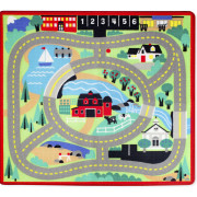 Round the Town Road Rug & Car Set-1