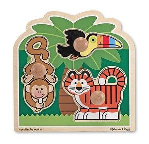 Rainforest Friends Jumbo Knob Puzzle