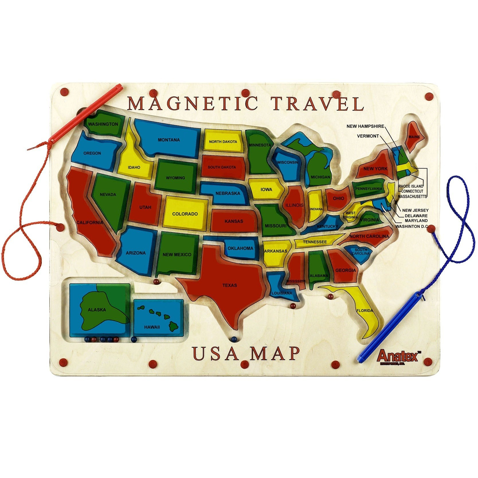 Magnetic Travel USA Map - Travel map us