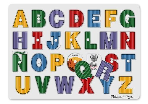 Spanish Alphabet Peg Puzzle