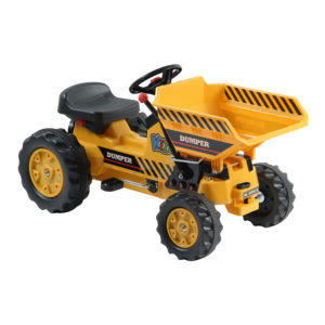 DX-50001A Pedal Tractor with Dumper (Yellow)
