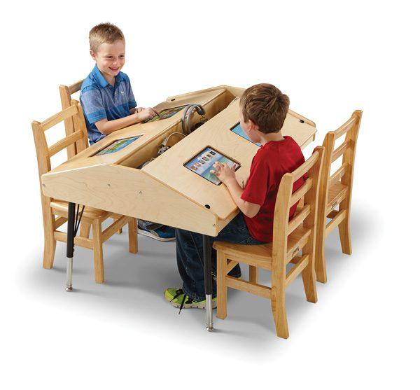 Jonti Craft® Quad Tablet Table U2013 Stationary